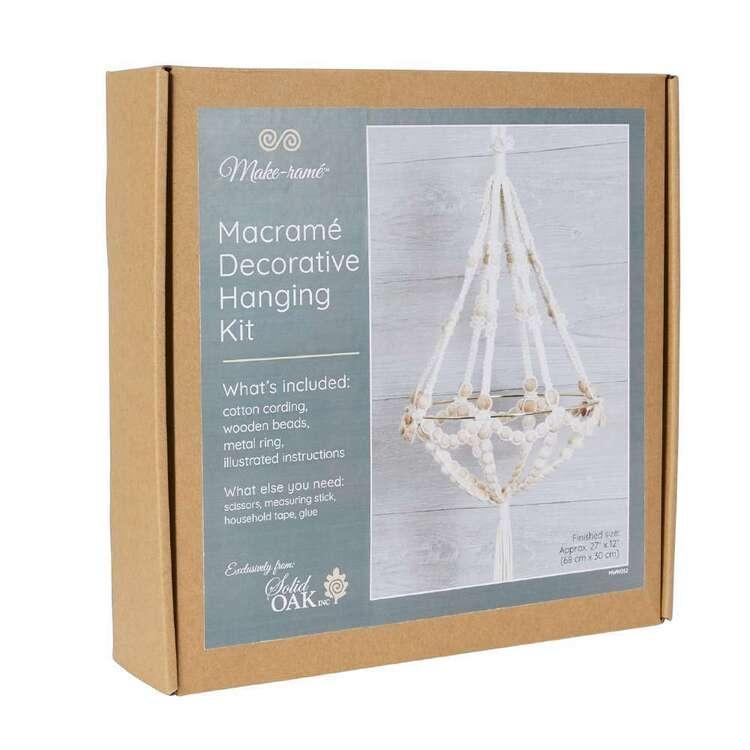 Solid Oak Chandelier Macram� Decorative Hanging Kit
