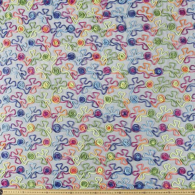 Neon Cornelli Lace Fabrics