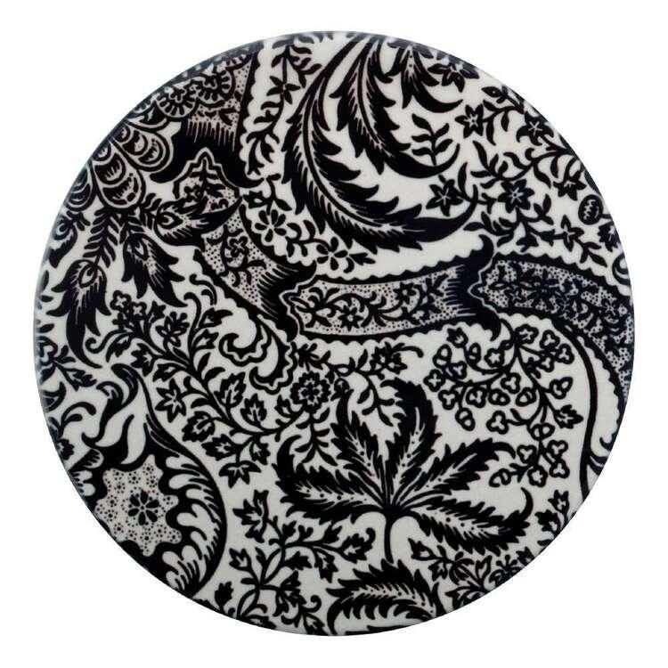 Casa Domani William Morris Black Seaweed 10 cm Ceramic Coaster