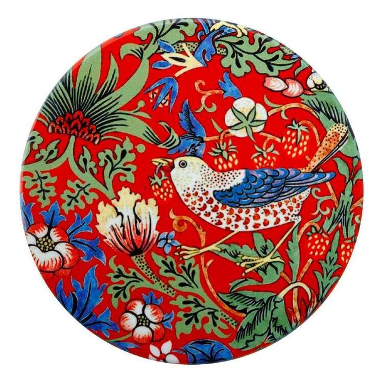 Casa Domani William Morris Red Strawberry Thief 10 cm Ceramic Coaster
