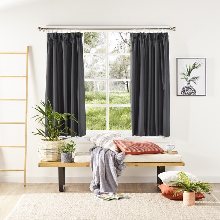 KOO Silken Blockout Pencil Pleat Curtains