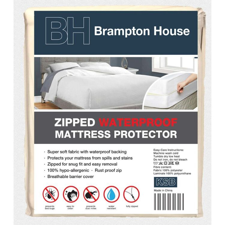 Brampton House Waterproof Zipped Mattress Protector