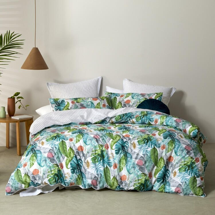 Logan & Mason Wildflower Quilt Cover Set Native
