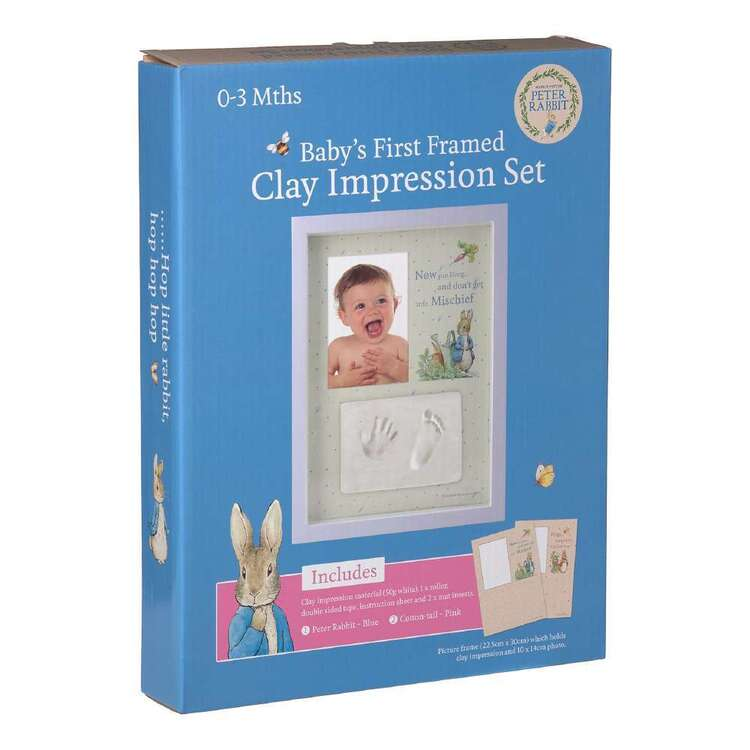 Beatrix Potter Gift Set Baby Hand / Foot Clay Ink Frame 1