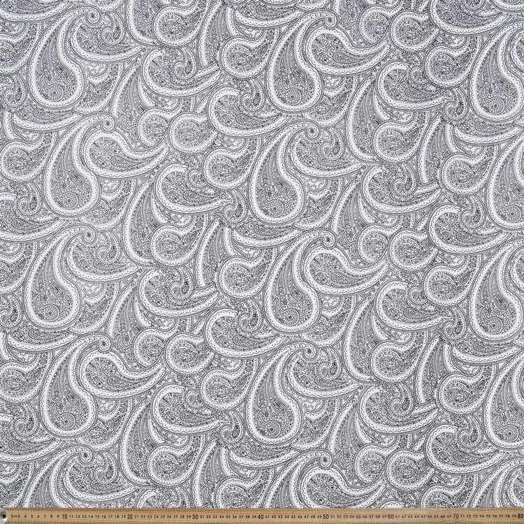 Monotones Big Paisley Cotton Fabric
