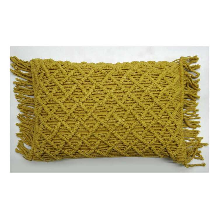 Ombre Home Harlow Surat Macrame Cushion