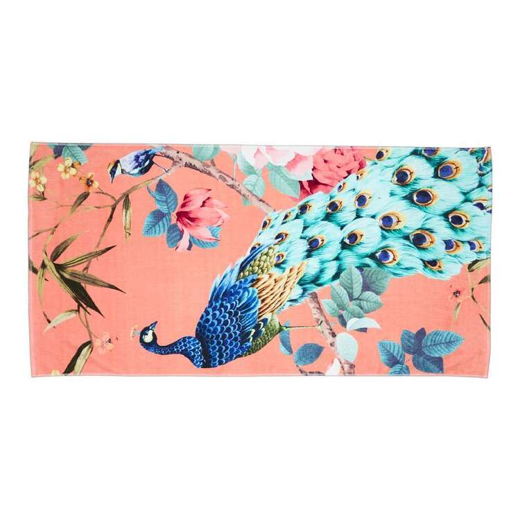 Luxotic Peacock Beach Towel