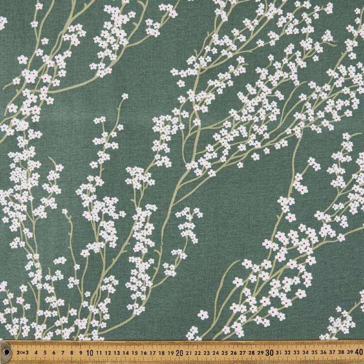 Urban Sprig Printed 112 cm Organic Cotton Fabric