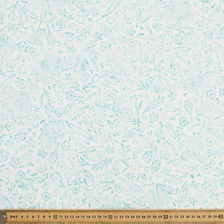 Ita Collection Floral Stamp Fabric
