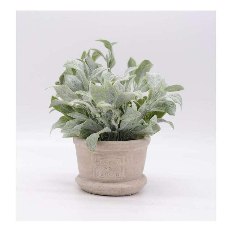 Living Space Flocking Leaves Pot #1