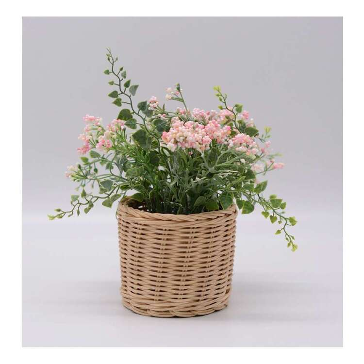Living Space Mixed Flower In Rattan Basket