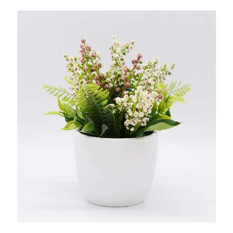 Living Space Mixed Flower Papier Mache Pot