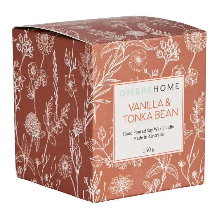 Ombre Home Spring Fields Vanilla And Tonka Beans Scented Boxed Candle
