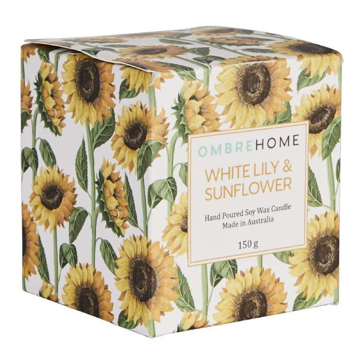 Ombre Home Spring Fields White Lily And Sunflower Scented Boxed Candle