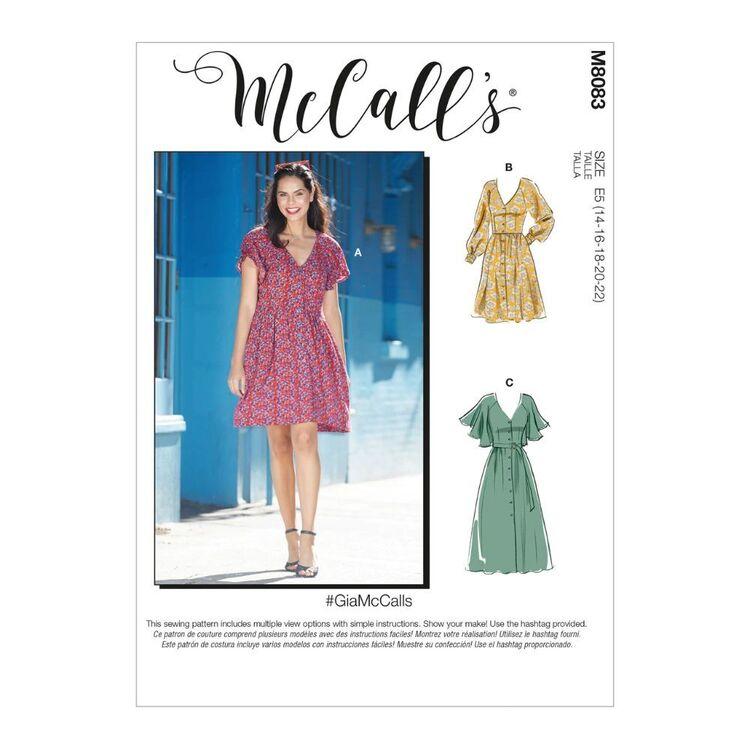 McCall's Pattern M8083 #GiaMcCalls - Misses' Dresses & Belt