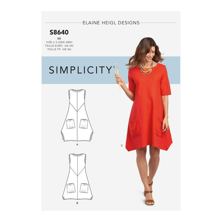 Simplicity Pattern S8640 Misses'/Women's Dress or Tunic