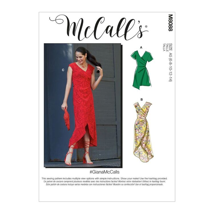 McCall's Pattern M8088 #GianaMcCalls - Misses' Dresses