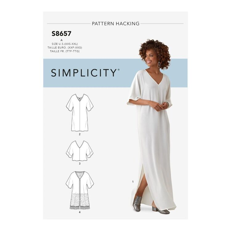 Simplicity Pattern S8657 Misses' Caftan with Options for Design Hacking