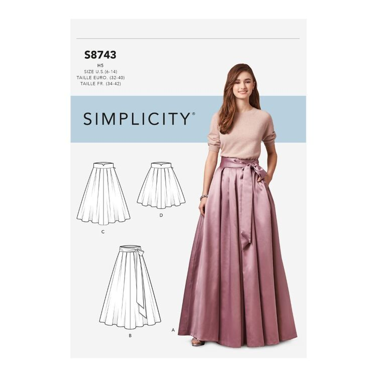 Simplicity Pattern S8743 Misses' Pleated Skirts