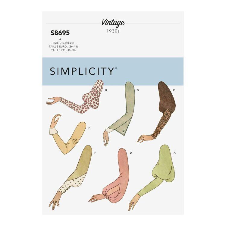Simplicity Pattern S8695 Misses' Vintage Set of Sleeves