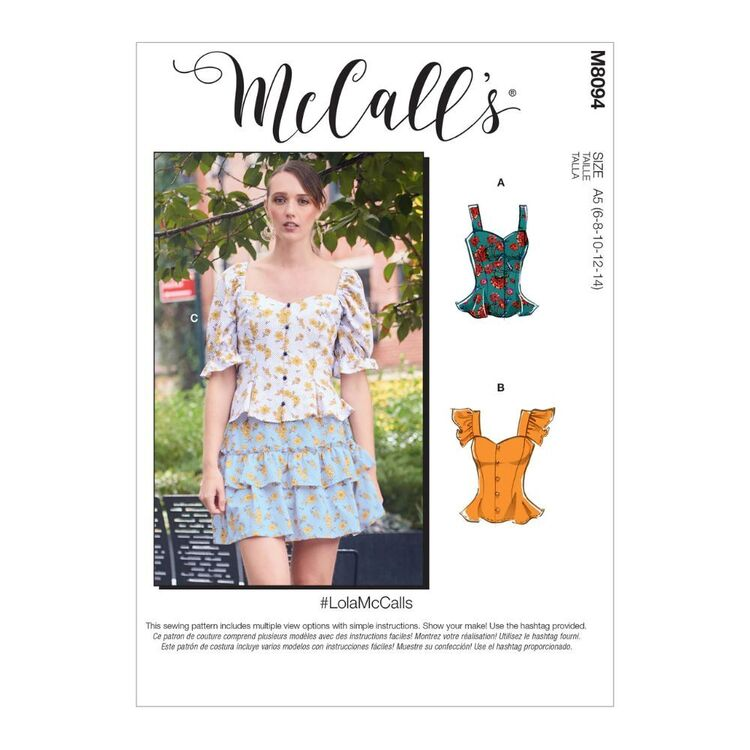 McCall's Pattern M8094 #LolaMcCalls - Misses' Tops