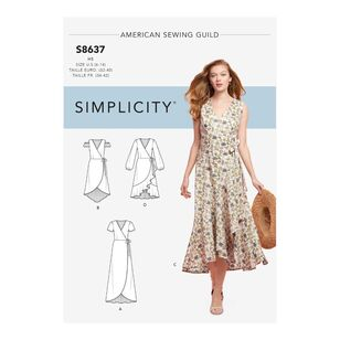 Simplicity Pattern S8637 Misses' Wrap Dress
