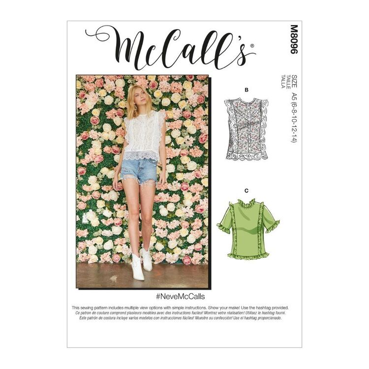 McCall's Pattern M8096 #NeveMcCalls - Misses' Tops