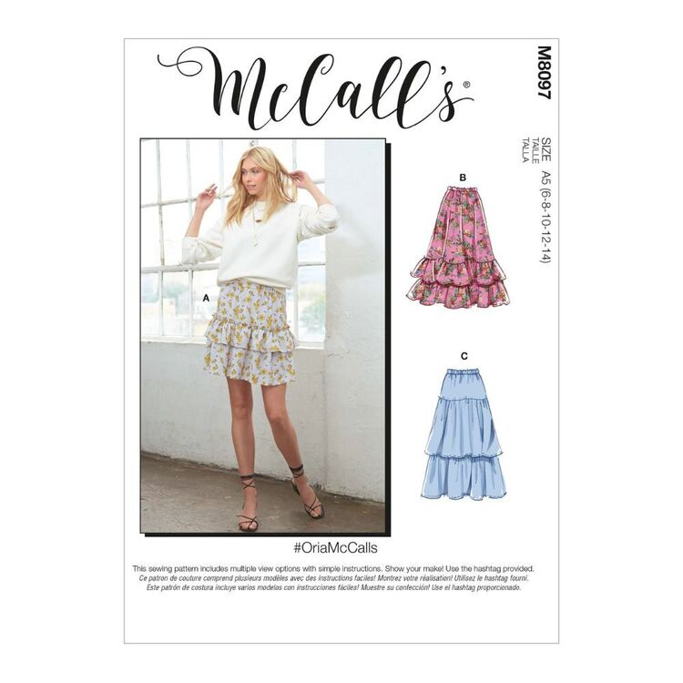 McCall's Pattern M8097 #OriaMcCalls - Misses' Skirts