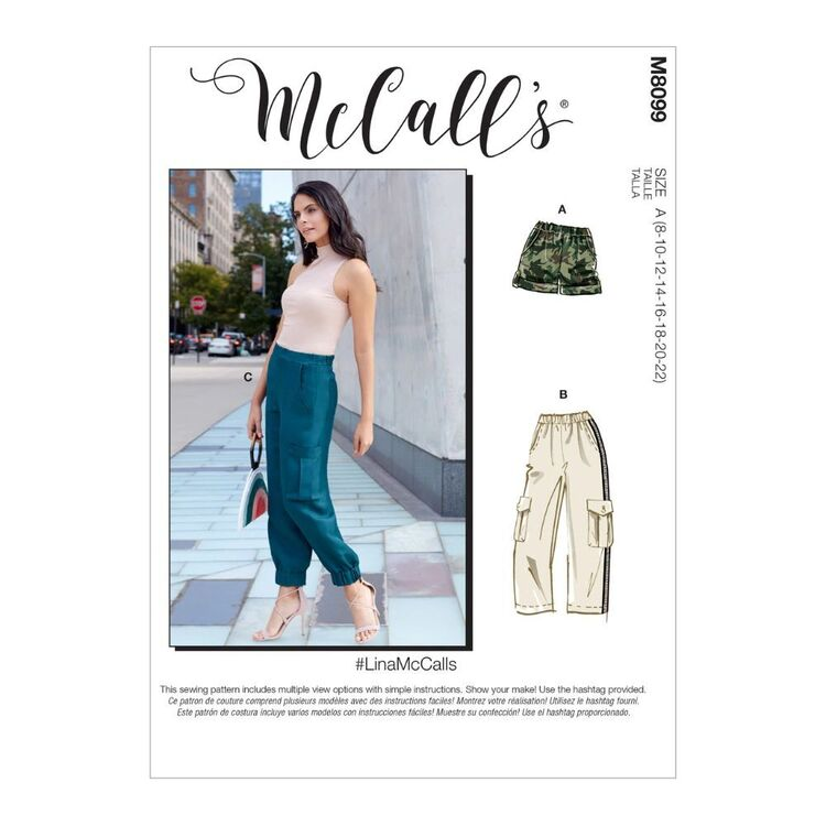 McCall's Pattern M8099 #LinaMcCalls - Misses' Shorts & Pants