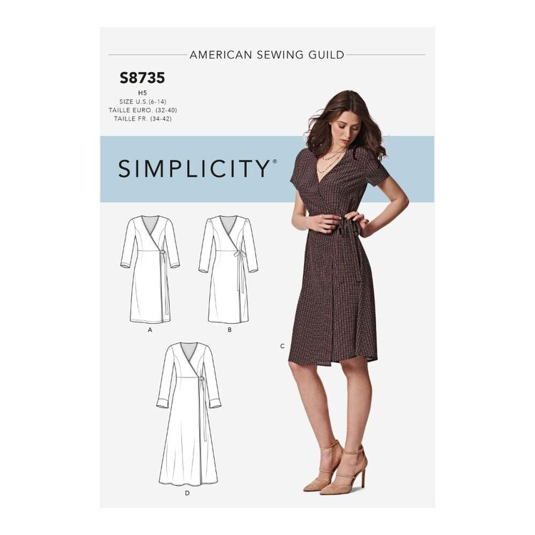 Simplicity Pattern S8735 Misses'/Miss Petite Wrap Dress
