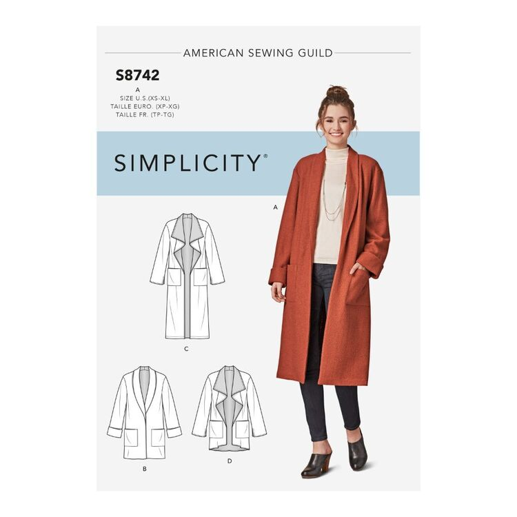 Simplicity Pattern S8742 Misses' Cardigan