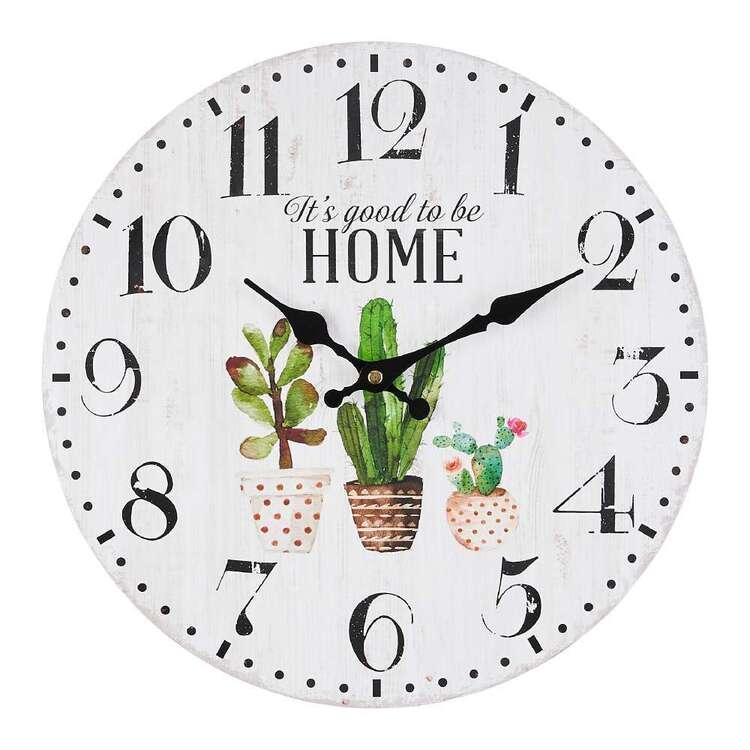 Cooper & Co Cactus MDF Clock