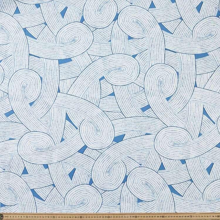 Swirly Printed Cotton Canvas