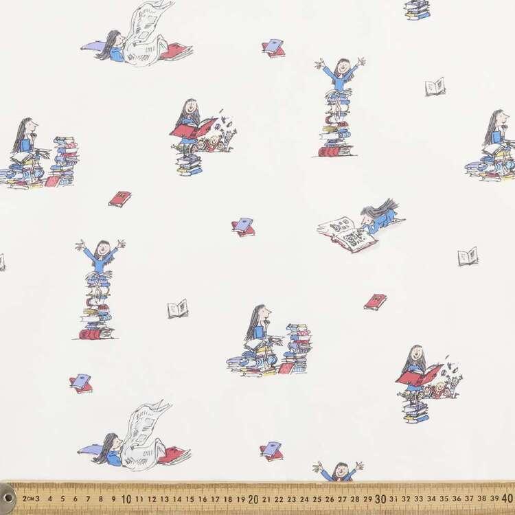 Matilda Loves Books Printed Canvas
