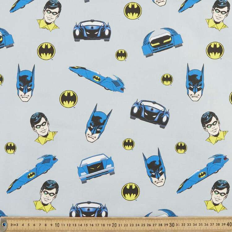 Batman & Robin Batmobile Cotton Fabric