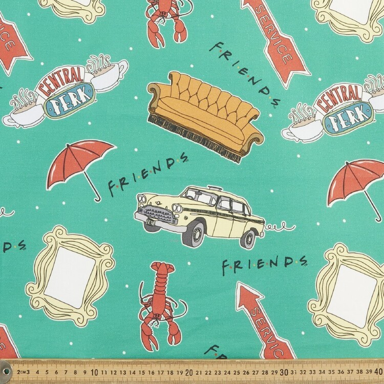 Friends Lobster Icons Fabric
