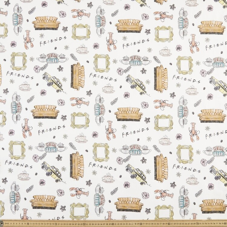 Friends Central Perk Cotton Fabric