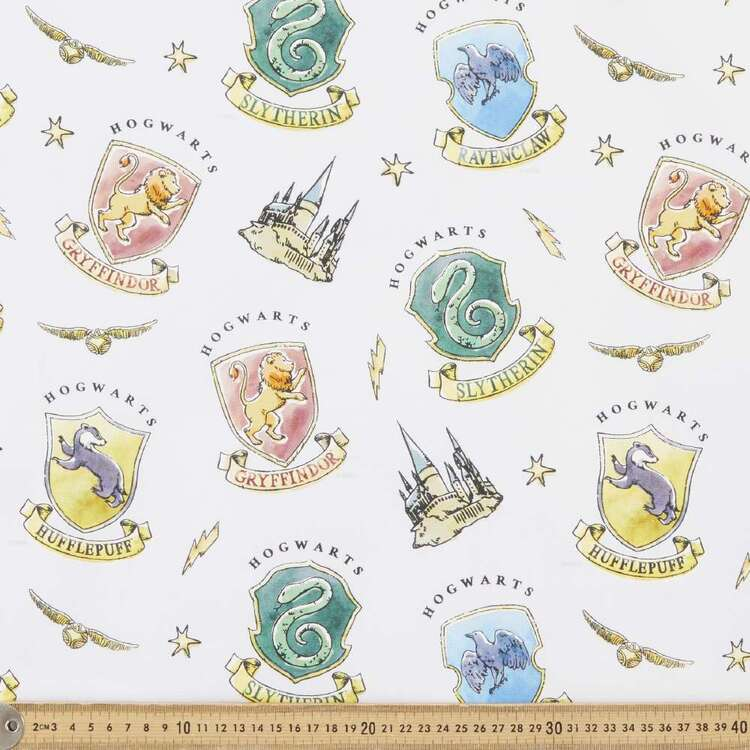 Harry Potter Watercolour House Fabric