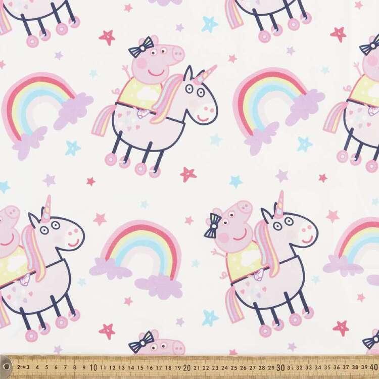 Peppa Pig Unicorn Rainbow Cotton Fabric