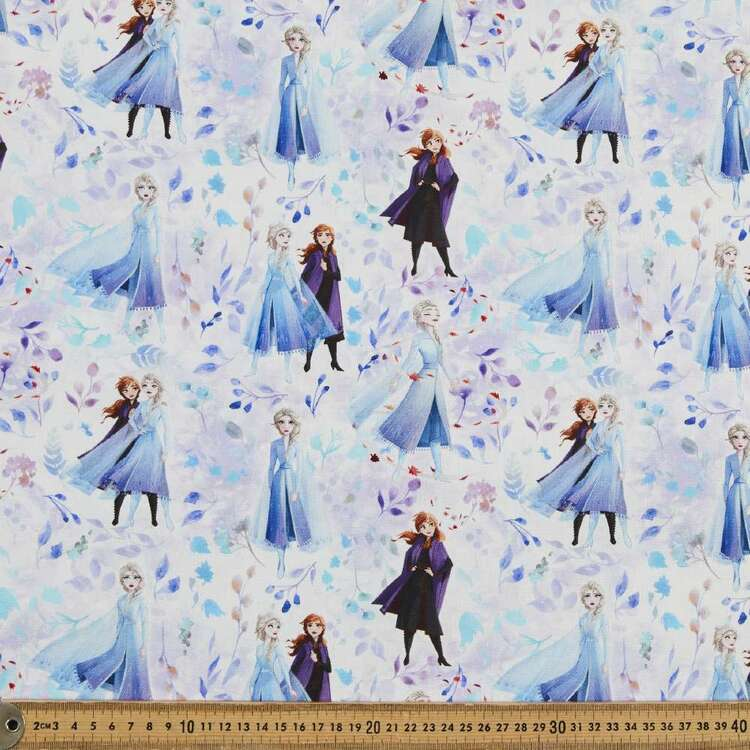 Frozen Floral Sisters Printed Cotton Fabric
