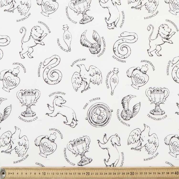 Harry Potter Zodiac Sketch Fabric