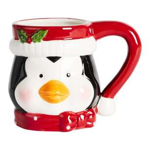 Living Space Festive Penguin Xmas Mug