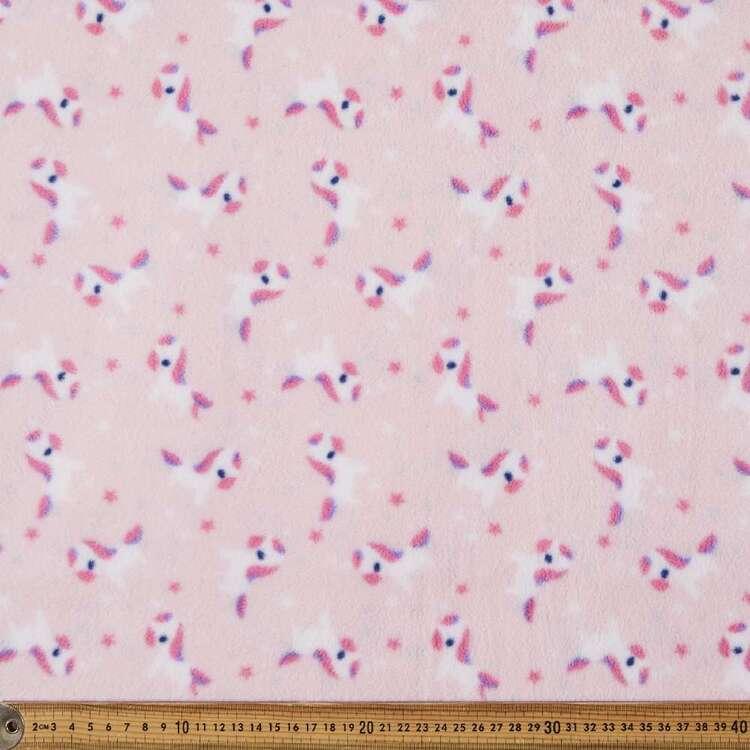 Unicorn Printed 155 cm Micro Polar Fleece Fabric