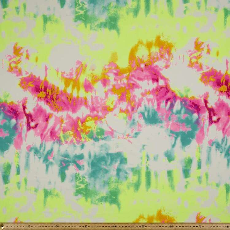 Tie Dye Printed 112 cm Organic Cotton Jersey Fabric