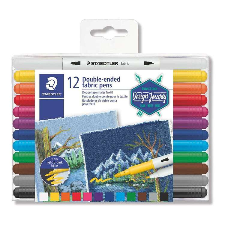 Staedtler Double-Ended Fabric Marker Set of 12