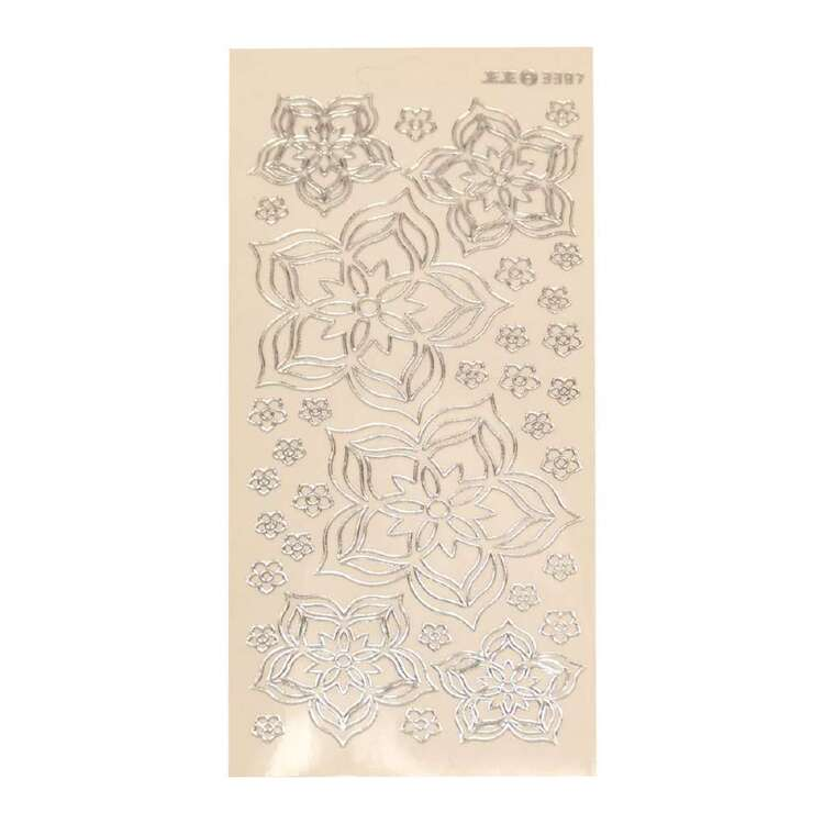 Couture Creations Art Deco Flowers Stickers