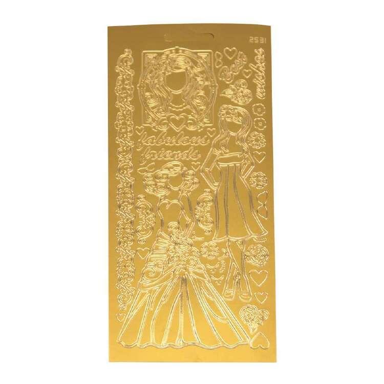 Couture Creations Art Deco Paper Dolls Sticker Sheet