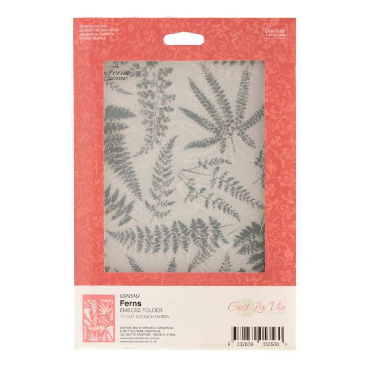 Couture Creations Ferns Emboss Folder