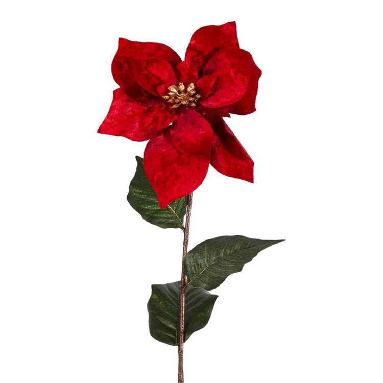 Thick Velvet Poinsettia