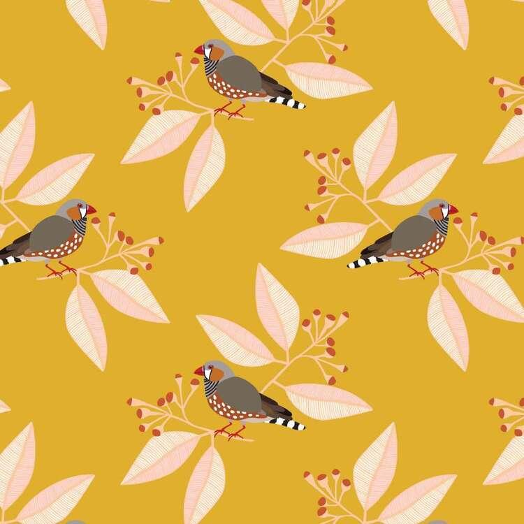 Jocelyn Proust Digital Zebra Finch Cotton Fabric